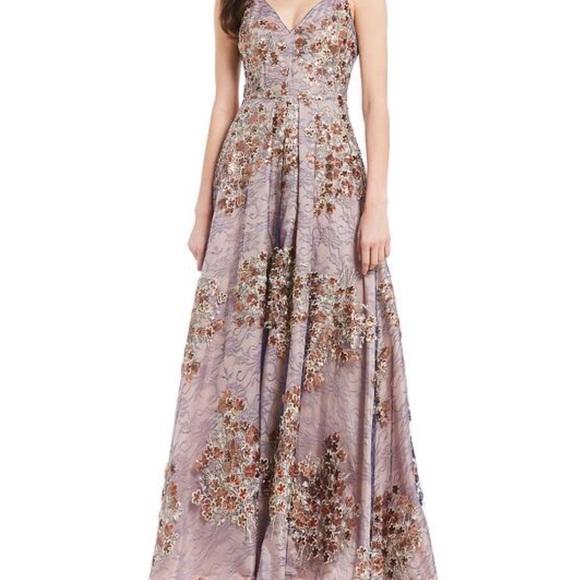 5833978c07dd Calvin Klein Dresses   Skirts - Calvin Klein Metallic Embroidered Formal  Dress